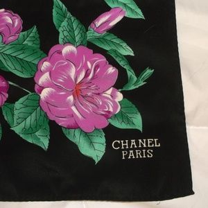 Vintage Chanel floral silk scarf